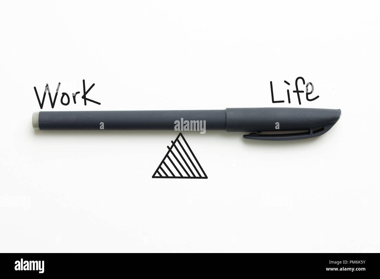 Work life balance text - Stock Image