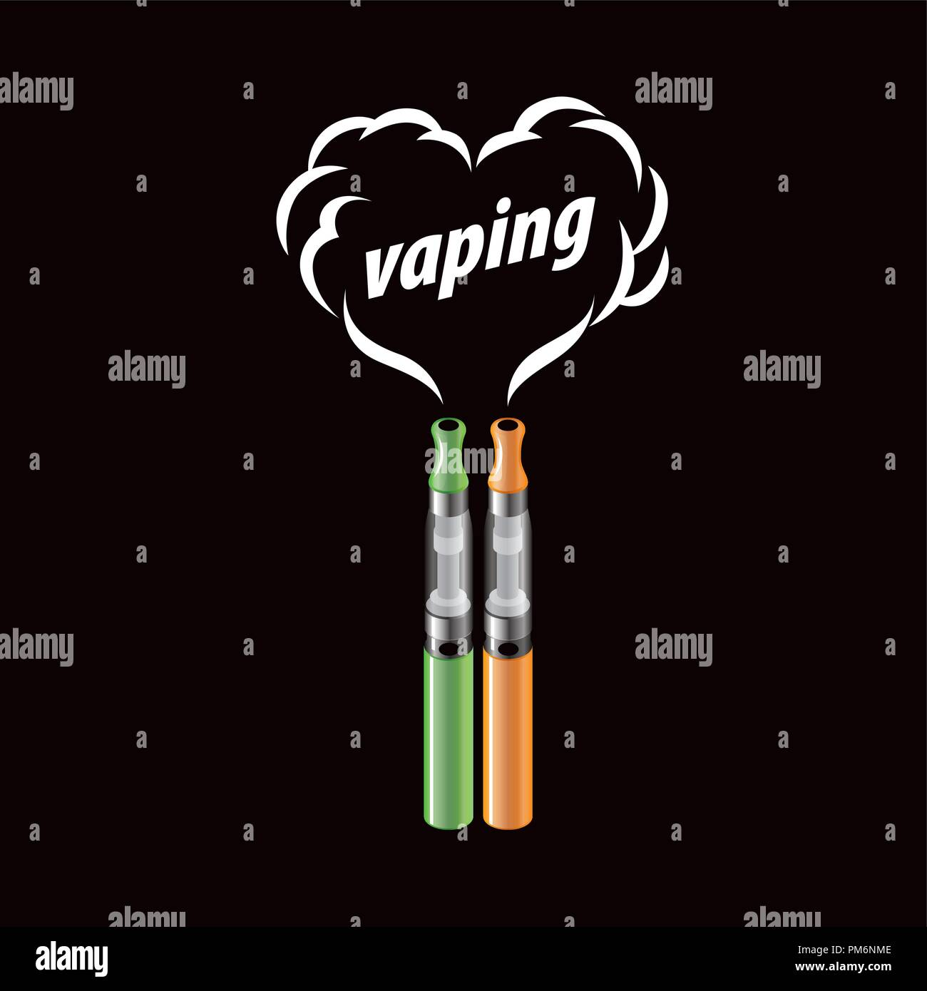 vector logo electronic cigarette - Stock Image