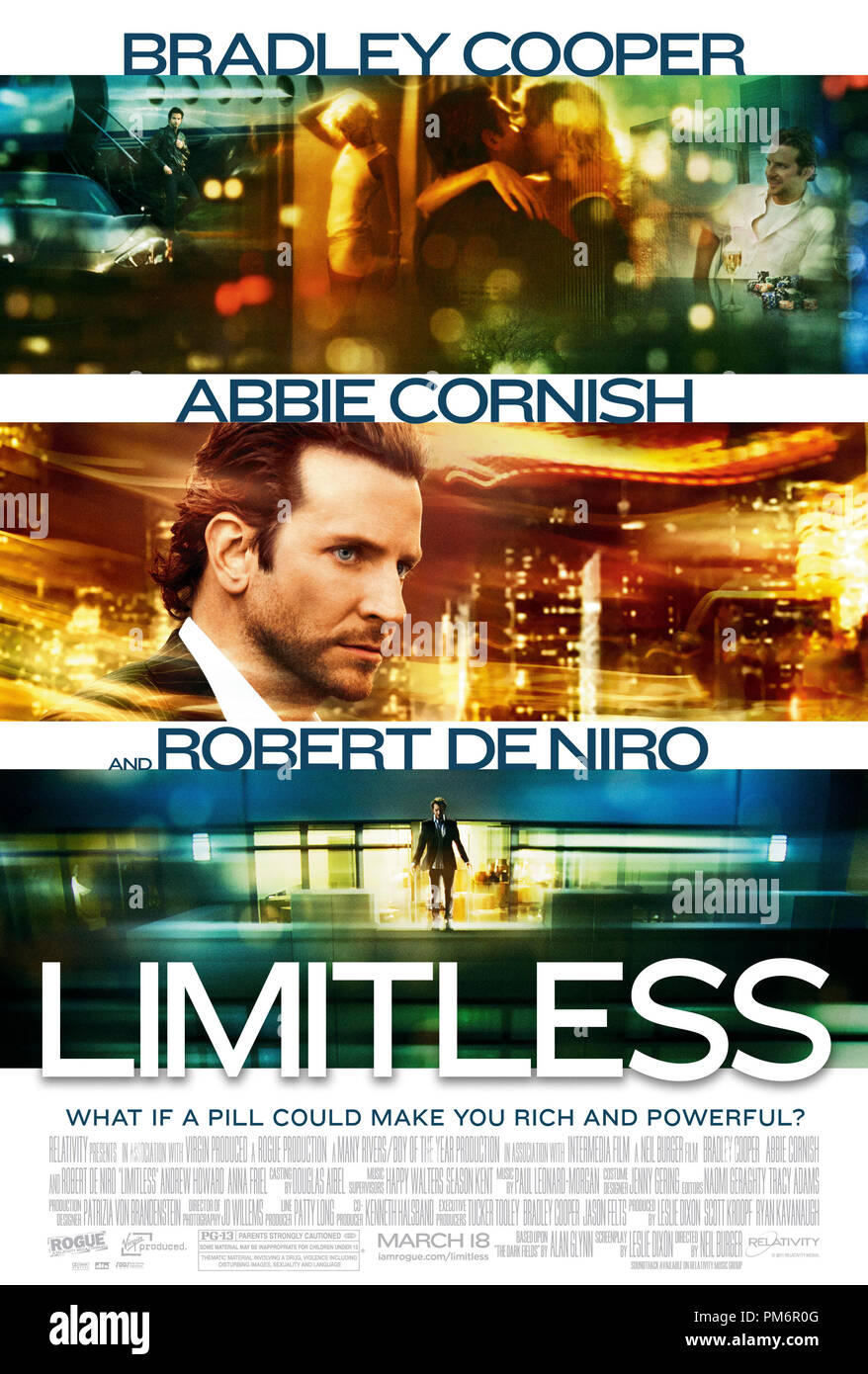 LIMITLESS. One Sheet Poster - Stock Image