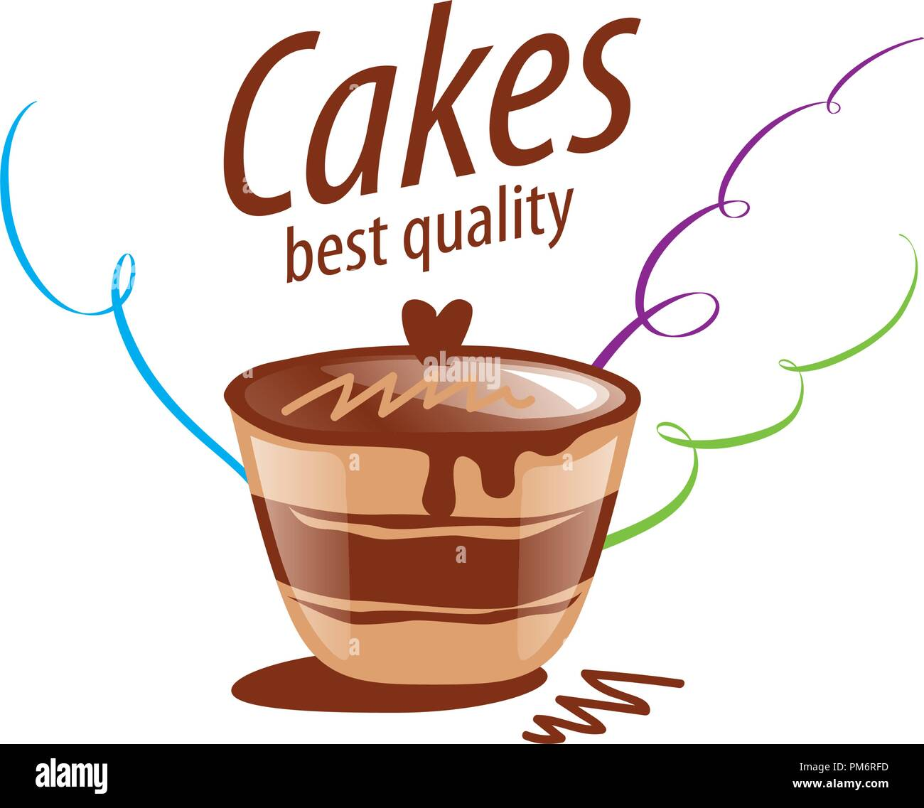 vector cake logo Stock Vector Art & Illustration, Vector Image