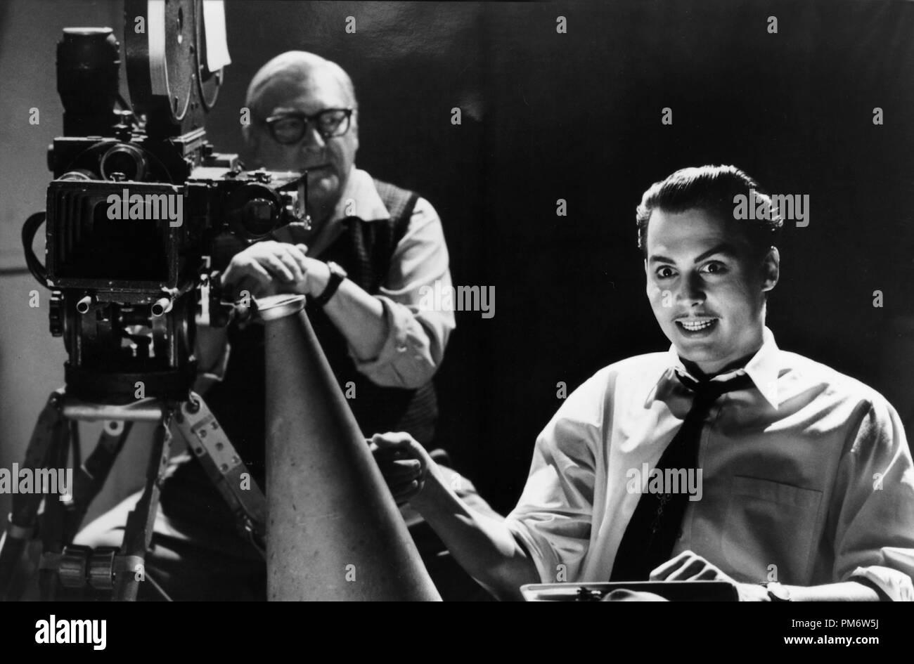 Film Still from 'Ed Wood' Norman Alden, Johnny Depp © 1994 Touchstone Photo Credit: Suzanne Tenner - Stock Image