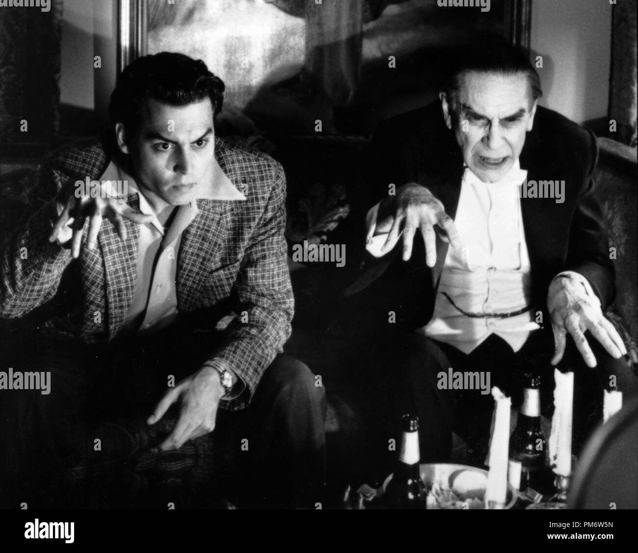 Film Still from 'Ed Wood' Johnny Depp, Martin Landau © 1994 Touchstone Photo Credit: Suzanne Tenner - Stock Image