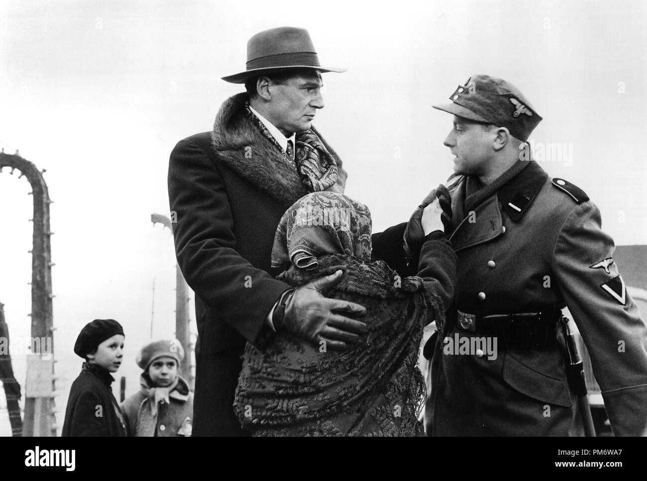 Film Still from 'Schindler's List' Liam Neeson © 1993 Universal Photo Credit: David James - Stock Image