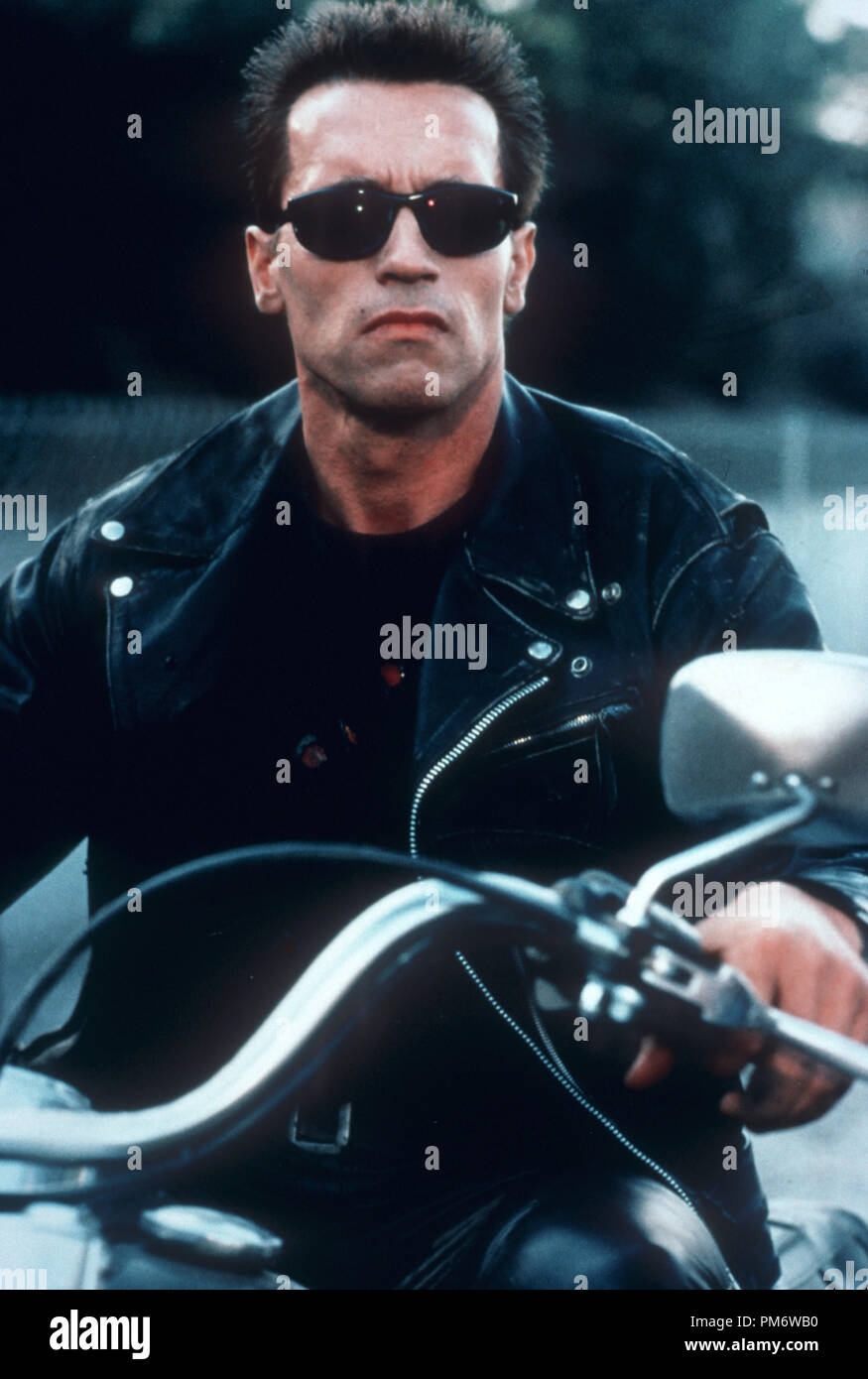 Film Still from 'Terminator 2: Judgment Day' Arnold Schwarzenegger © 1991 Carolco - Stock Image