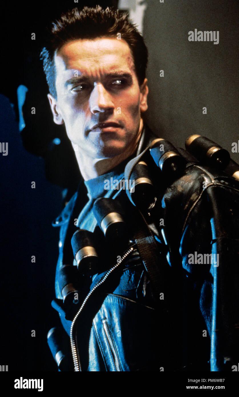 Film Still from 'Terminator 2: Judgment Day' Arnold Schwarzenegger © 1991 Carolco Photo Credit: Zade Rosenthal - Stock Image
