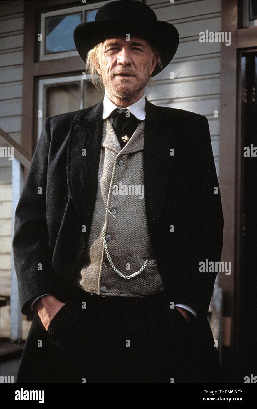 Film Still from 'Unforgiven' Richard Harris © 1992 Warner Brothers - Stock Image