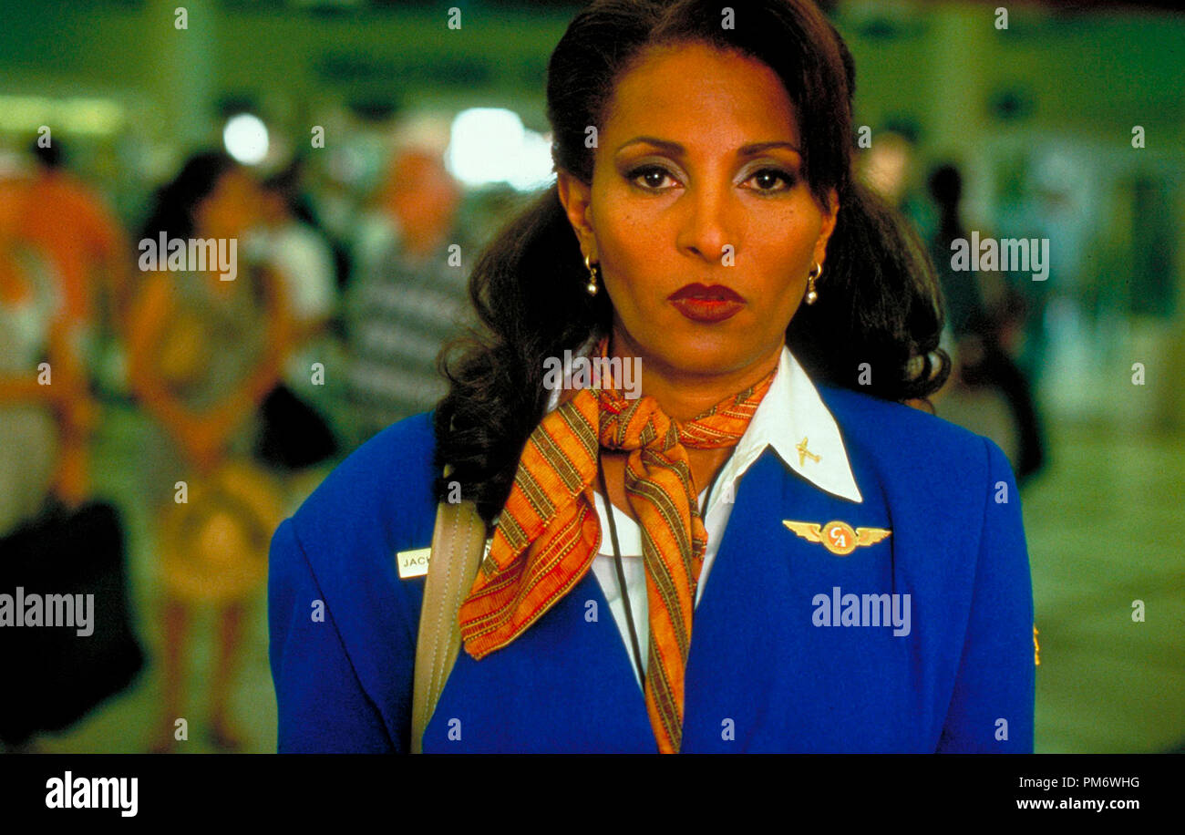 Film Still from 'Jackie Brown' Pam Grier © 1997 Miramax - Stock Image