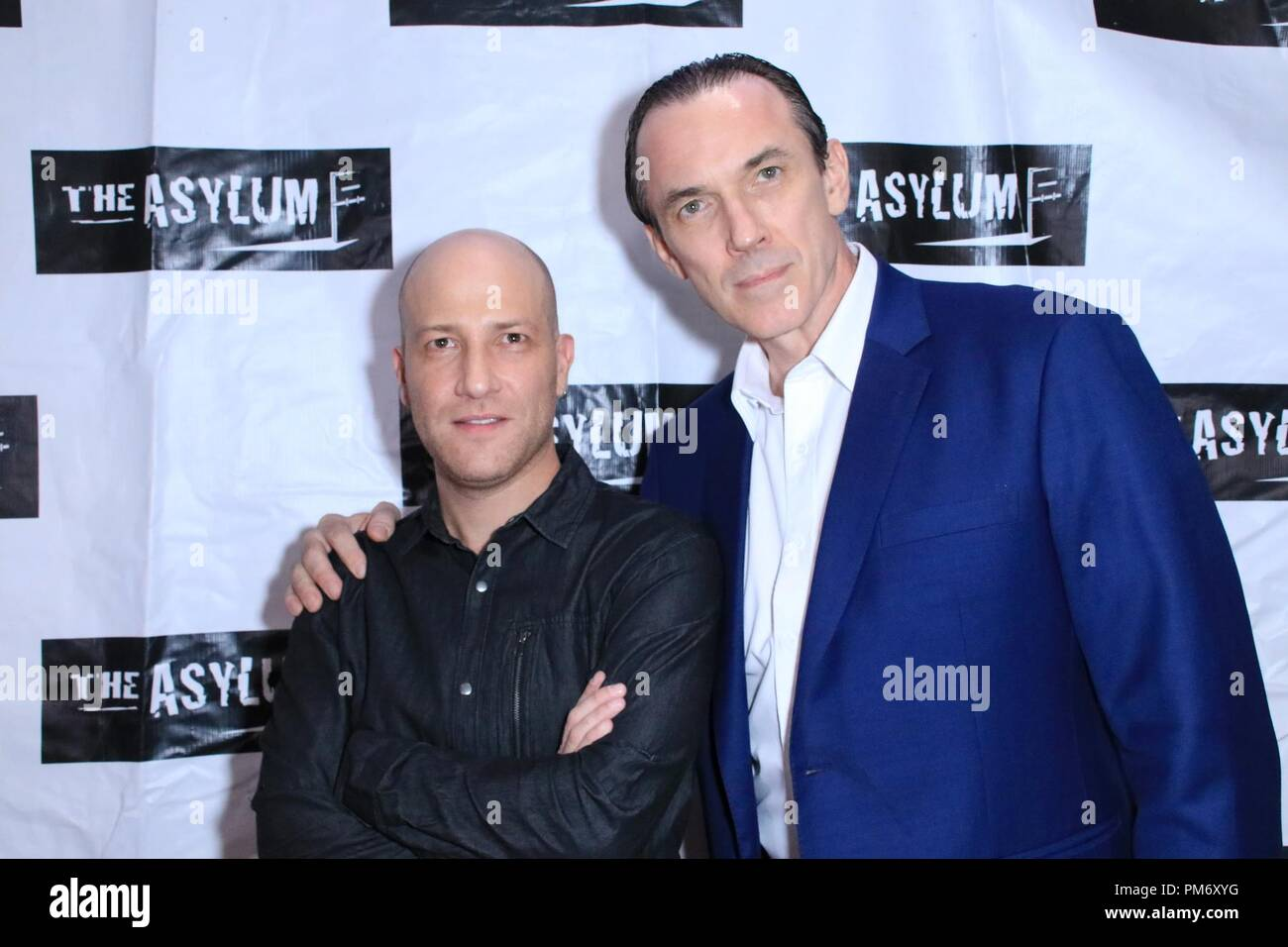World Premiere of 'Megalodon' held at the Downtown Independent in Los Angeles, California.  Featuring: Dimitry Rozental, Ego Mikitas Where: Los Angeles, California, United States When: 13 Aug 2018 Credit: WENN.com - Stock Image