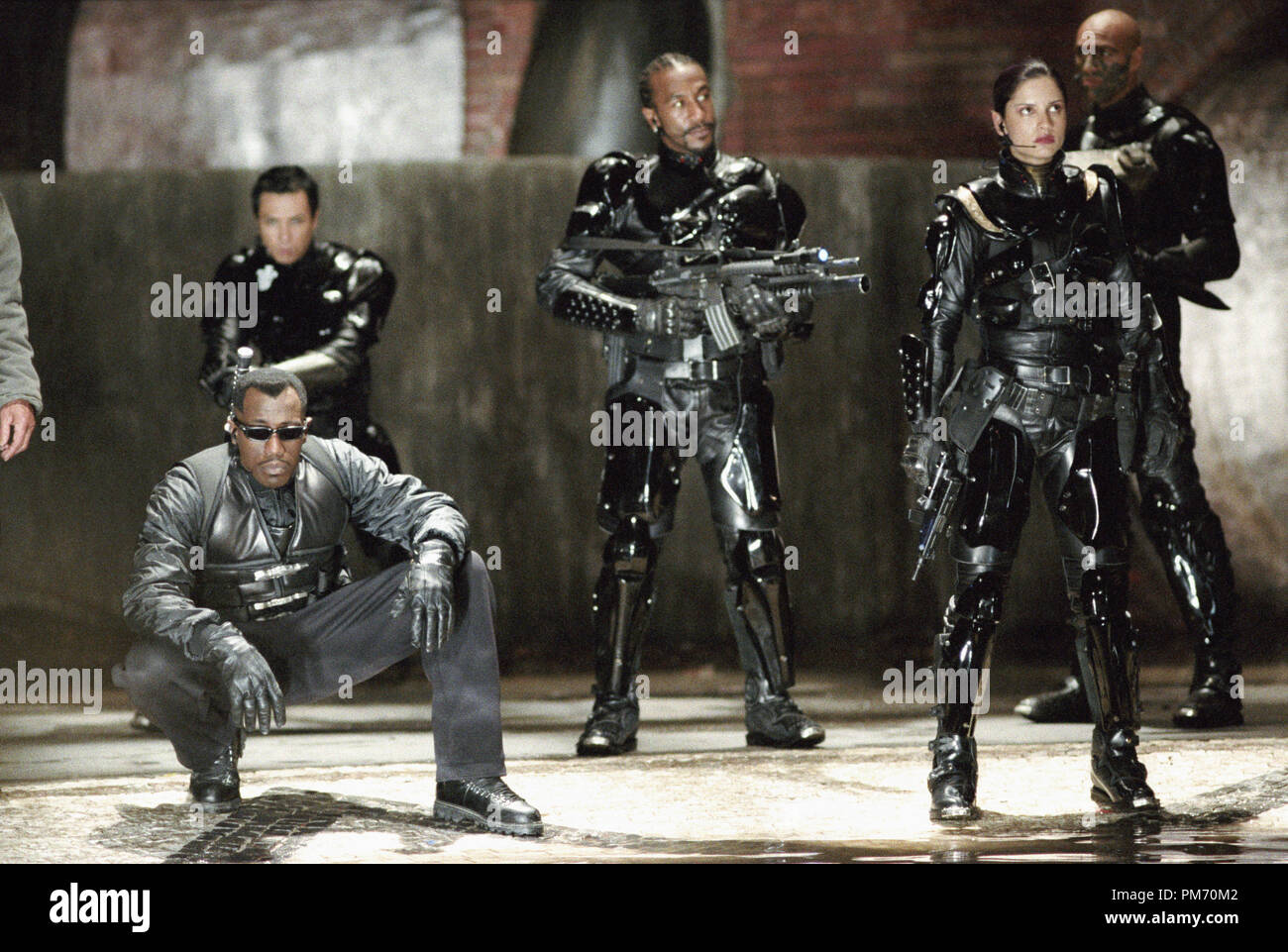 Film Still / Publicity Still from 'Blade II' Wesley Snipes, Donnie Yen, Danny John-Jules, Leonor Varela, Daz Crawford © 2002 New Line Cinema Photo Credit: Bruce Talamon - Stock Image