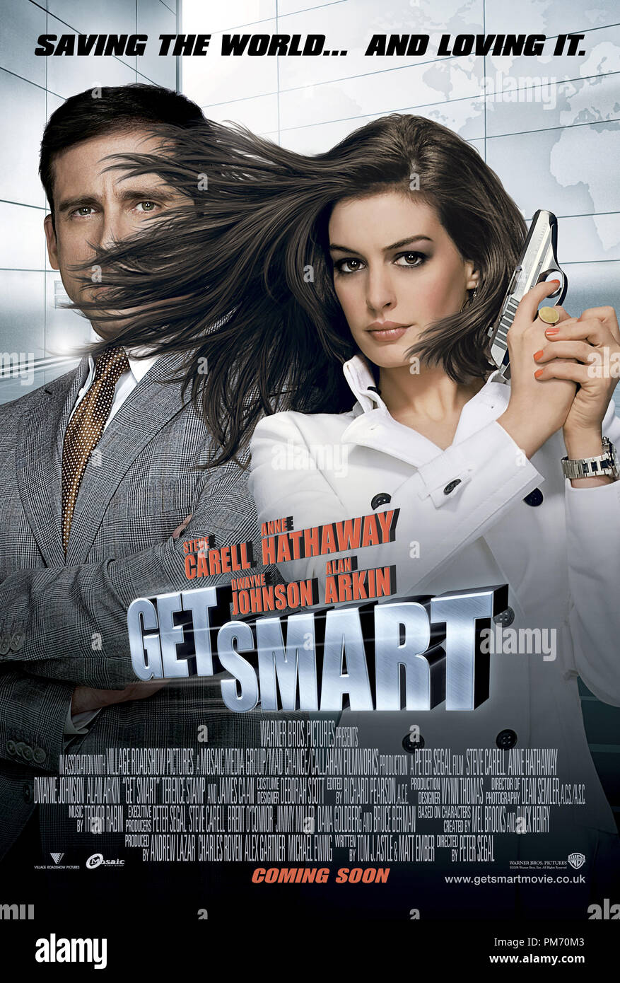 'Get Smart' Poster © 2008 Warner Brothers  File Reference # 30755001THA  For Editorial Use Only -  All Rights Reserved - Stock Image