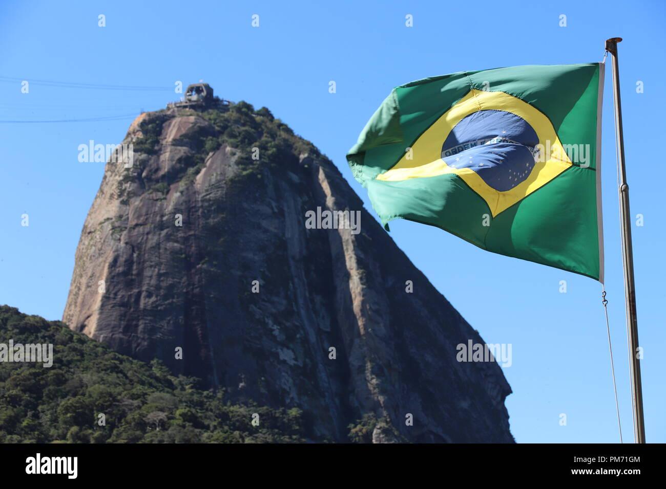 Pao de Acucar from Vermelha beach - Rio de Janeiro ( Brazil ) Stock Photo