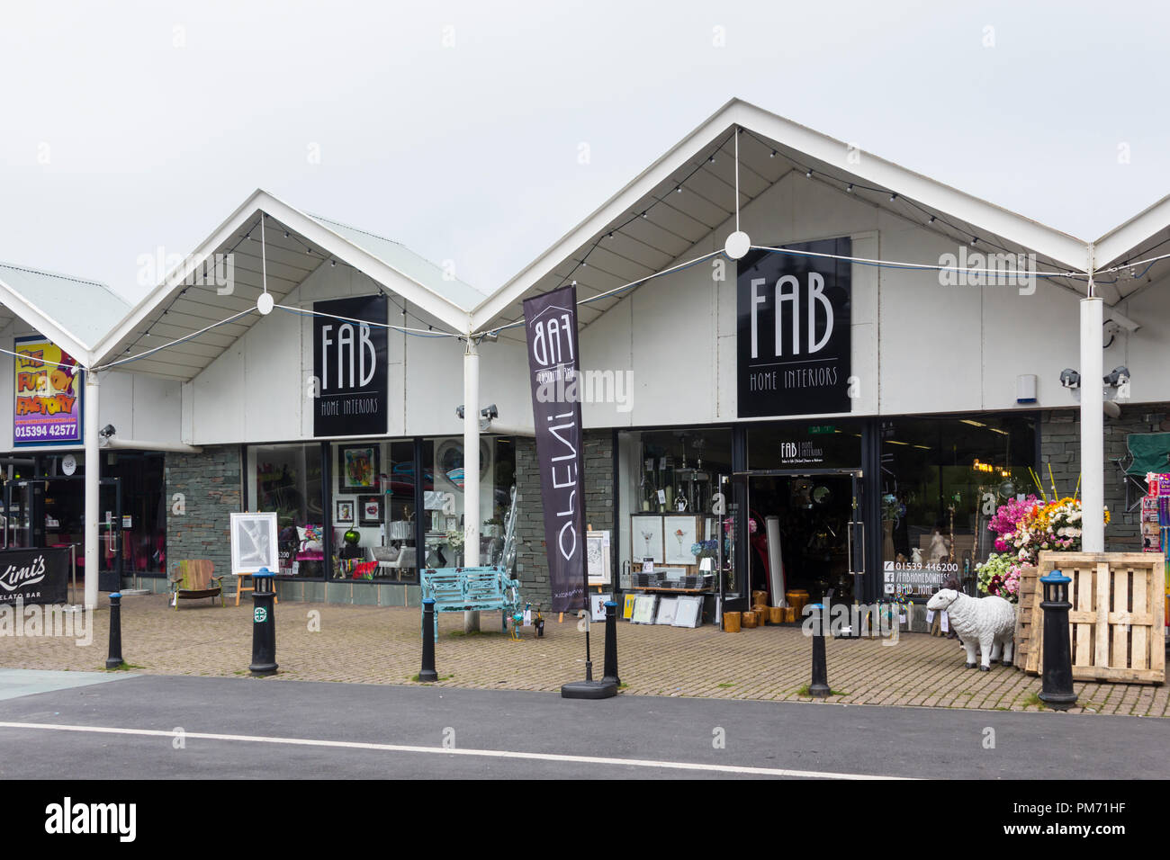 Fab Home Interiors Store On Glebe Road Bowness On Windermere In The English Lake District Fab Home Interiors Specialise In Home Interior Decor Stock Photo Alamy
