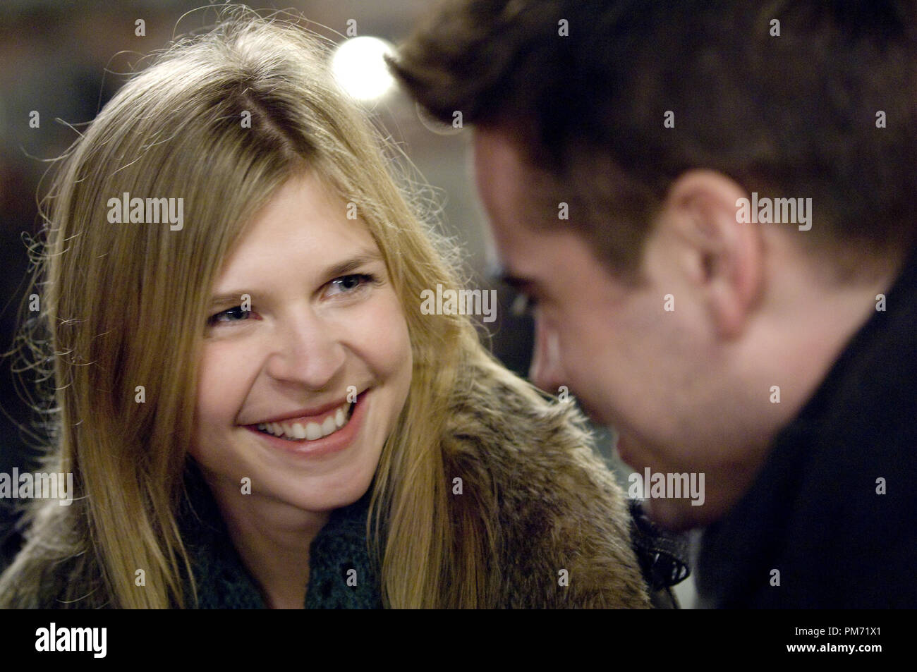 Film Still from 'In Bruges' Clemence Poesy, Colin Farrell © 2008 Focus Features Photo credit: Jaap Buitendijk  File Reference # 30755253THA  For Editorial Use Only -  All Rights Reserved - Stock Image
