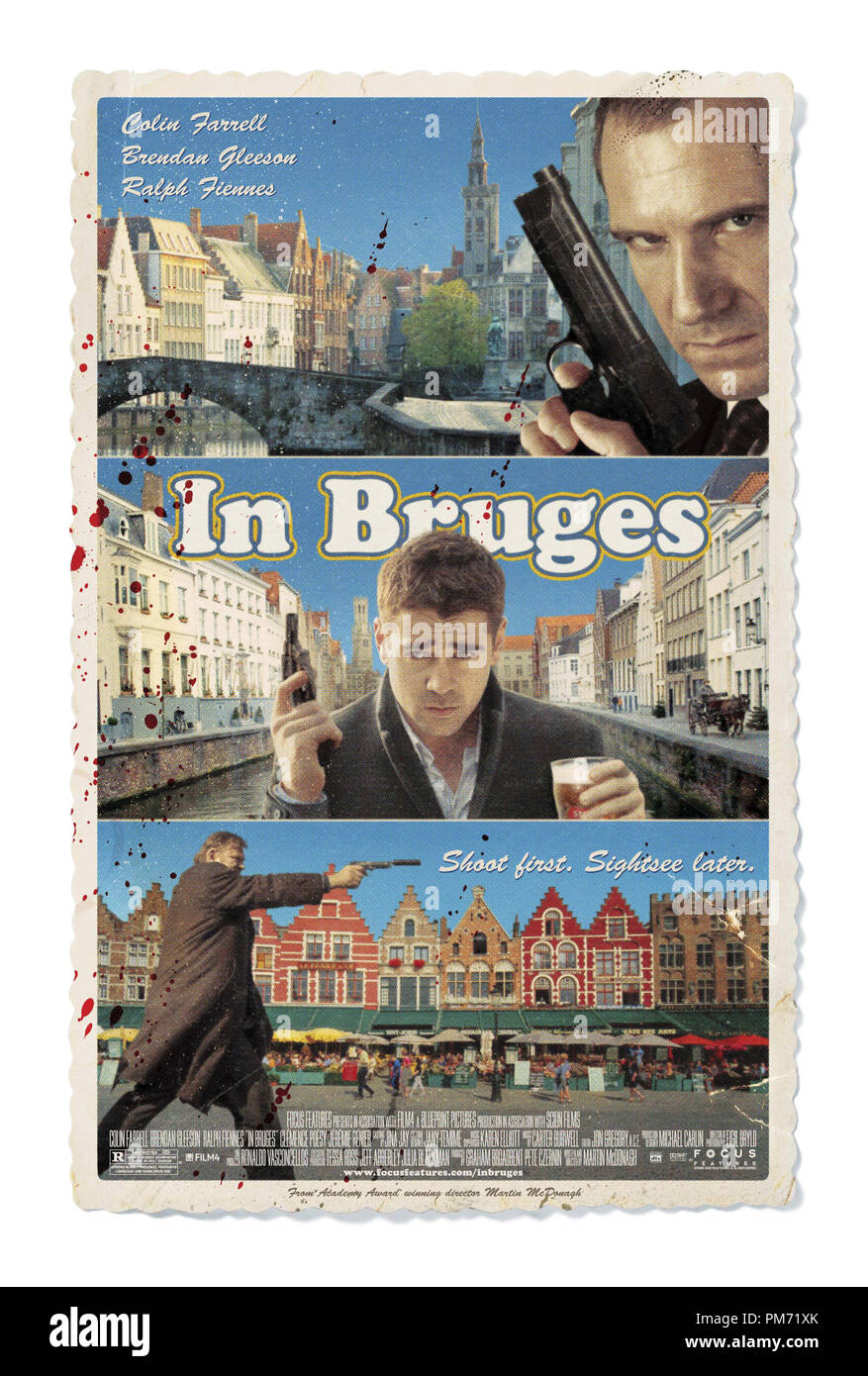 'In Bruges' Poster © 2008 Focus Features  File Reference # 30755263THA  For Editorial Use Only -  All Rights Reserved - Stock Image