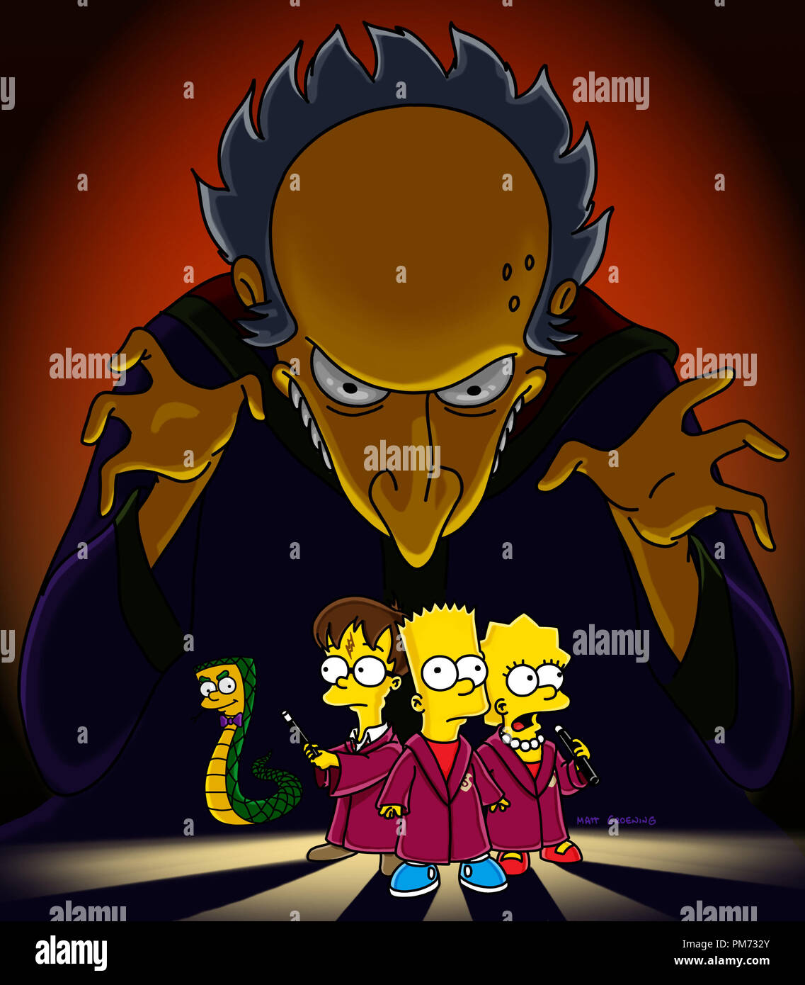 Film Still Publicity Still From The Simpsons Episode Treehouse Of Horror Xii Lord Montymort Slithers Harry Potter Bart Simpson Lisa Simpson November 6 2001 File Reference 30847128tha For Editorial Use