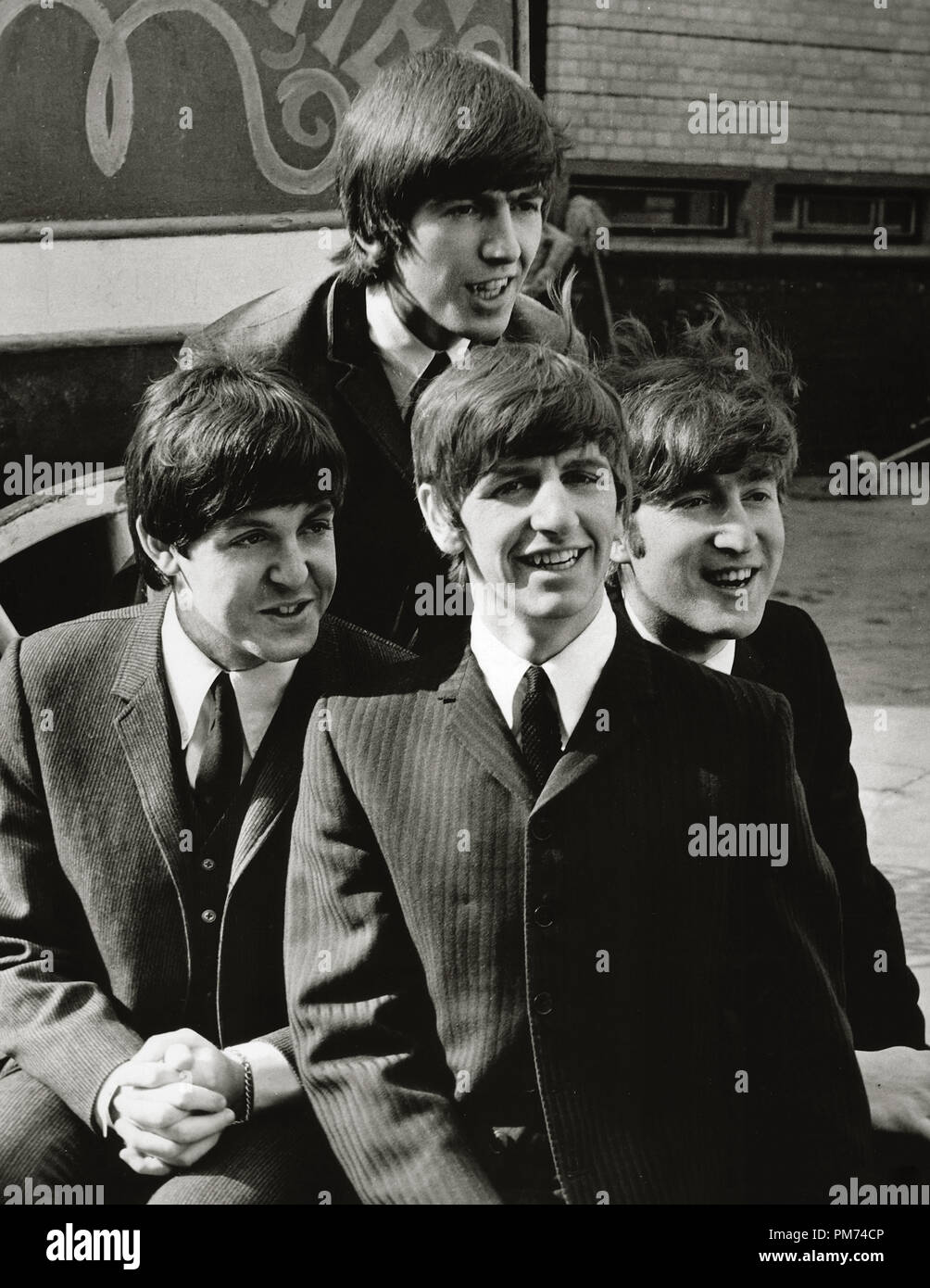 The Beatles, Paul McCartney, George Harrison, John Lennon and Ringo Starr, 'A Hard Day's Night' 1964 File Reference # 30928_107THA - Stock Image