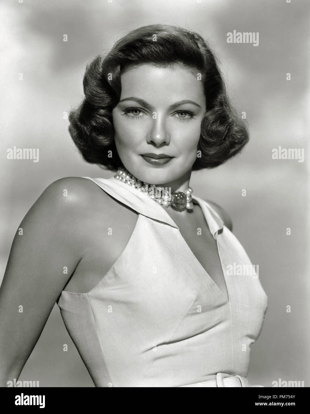 Gene Tierney, circa 1957. File Reference # 30928_342THA - Stock Image