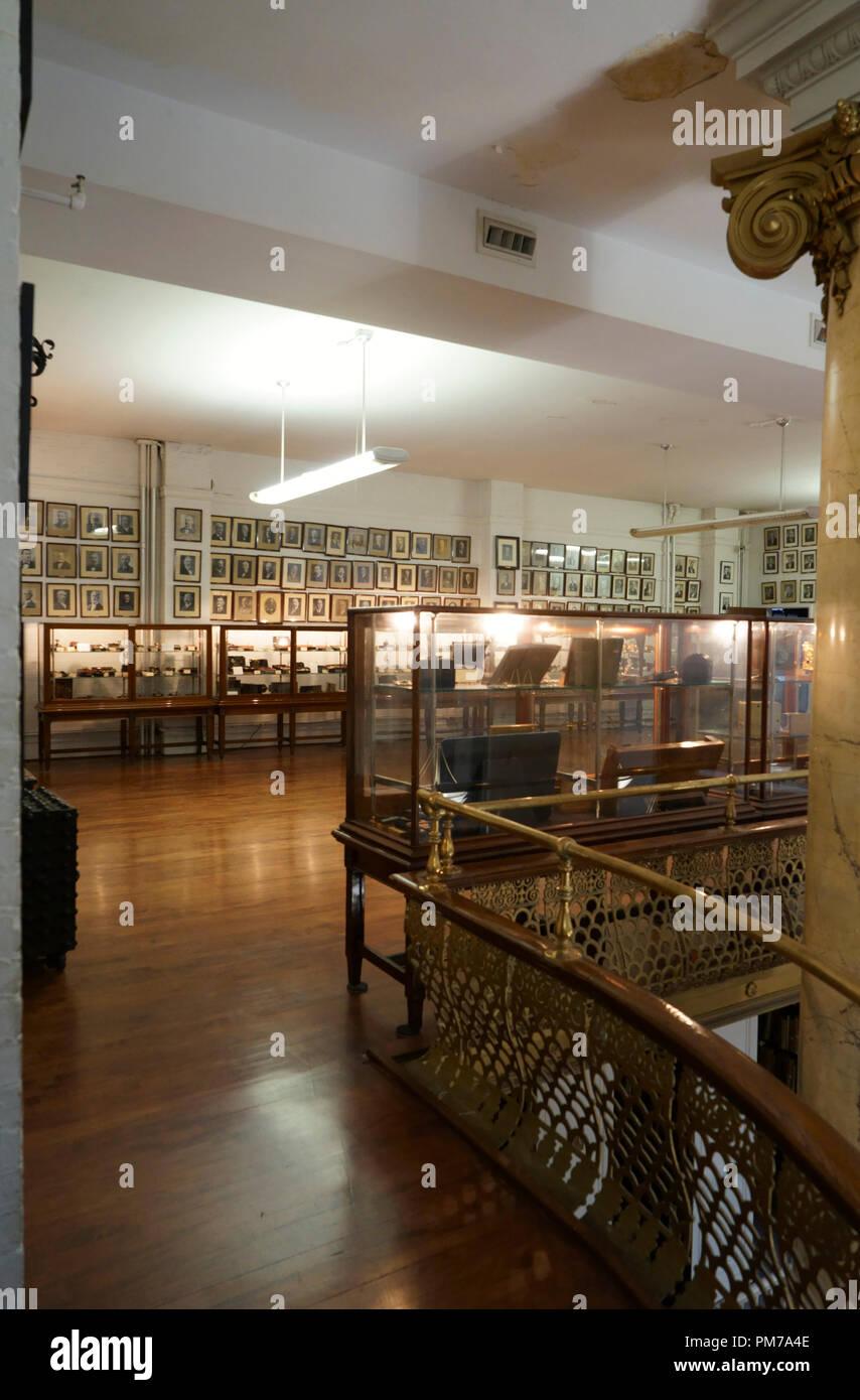 John M.Mossman Lock Collection at the General Society of Mechanics & Tradesmen of the City of New York. Manhattan. New York City.USA - Stock Image