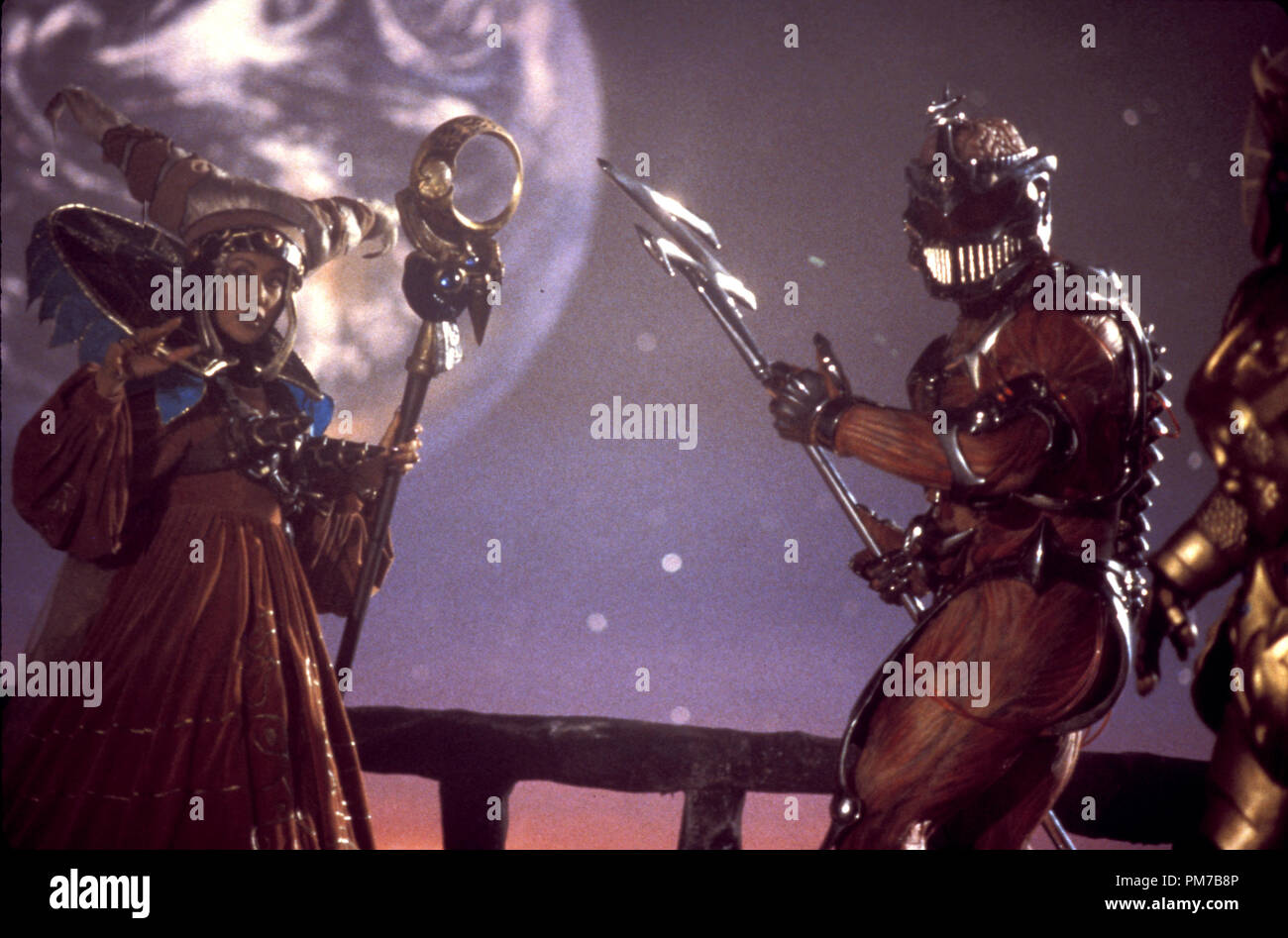 Film Still from 'Mighty Morphin Power Rangers: The Movie' Julia Cortez, Mark Ginther © 1995 20th Century Fox Photo Credit: Marc Vignes  File Reference # 31043213THA  For Editorial Use Only - All Rights Reserved - Stock Image