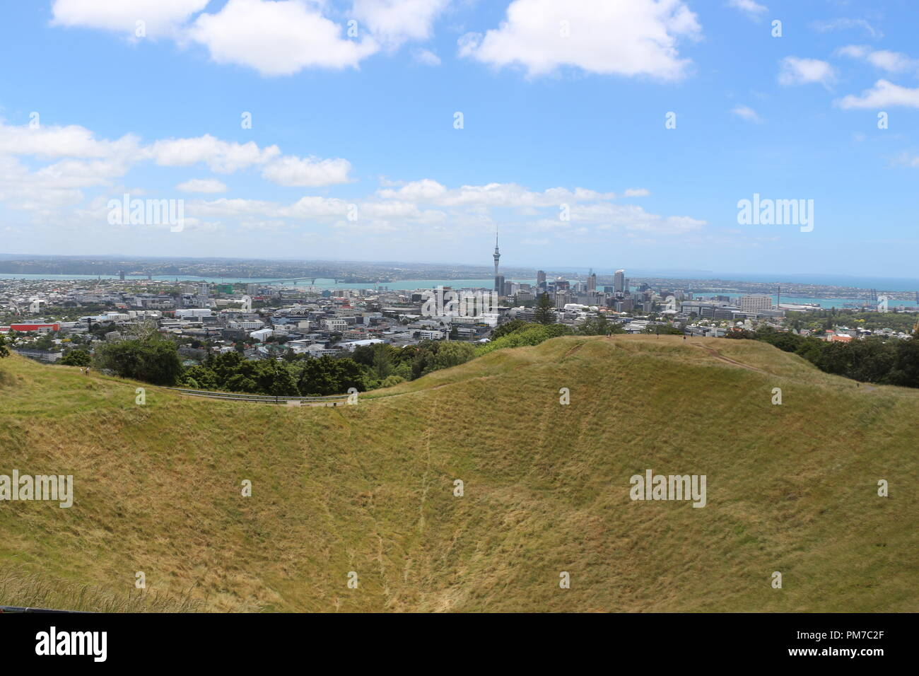 Auckland from Mt Eden - Stock Image