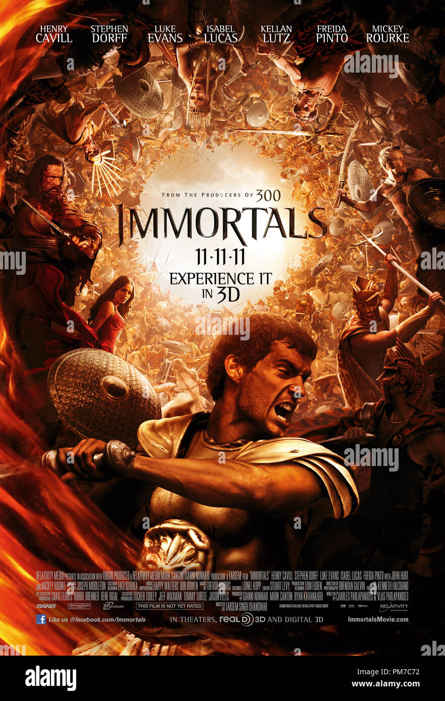 Relativity Media's IMMORTALS 2011 Poster - Stock Image