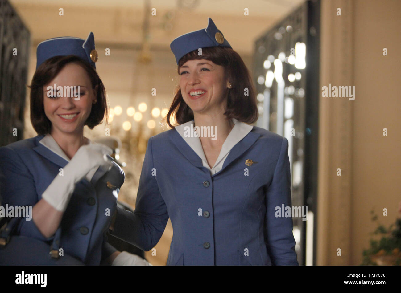 Christina Ricci Karine Vanasse Colette Pan Am Tv Series 2011 Stock Photo Alamy