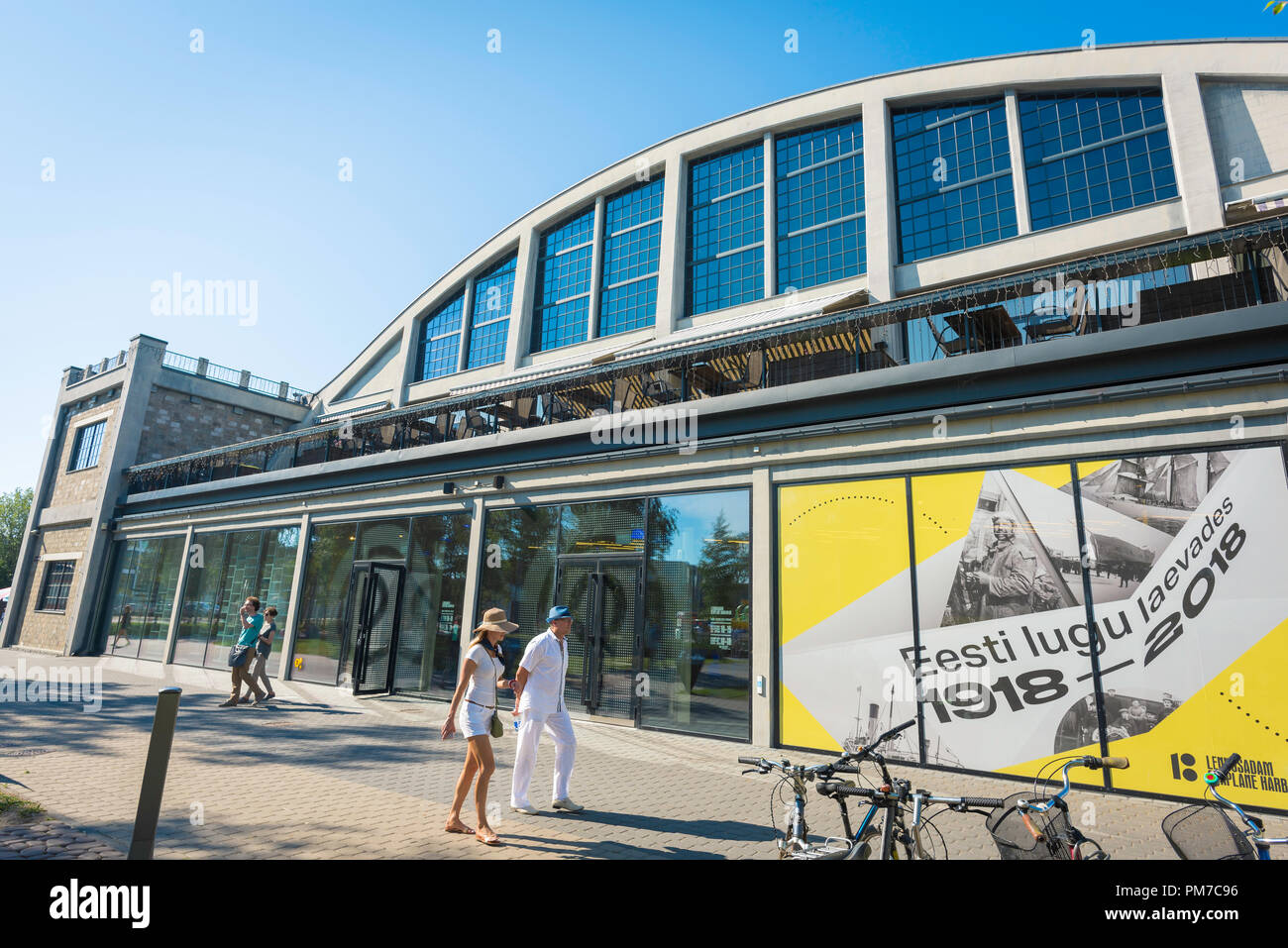 Tallinn Lennusadam, view of the entrance to the Lennusadam Seaplane Harbour Museum - part of the Estonia Maritime Museum - in Tallinn, Estonia. - Stock Image