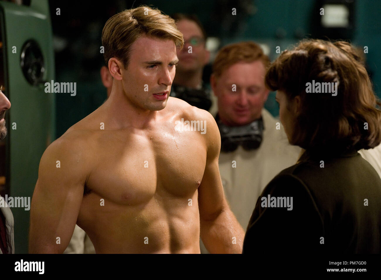 Left To Right Chris Evans Plays Steve Rogers And Hayley Atwell Plays Peggy Carter In Captain America The First Avenger From Paramount Pictures And Marvel Entertainment Stock Photo Alamy