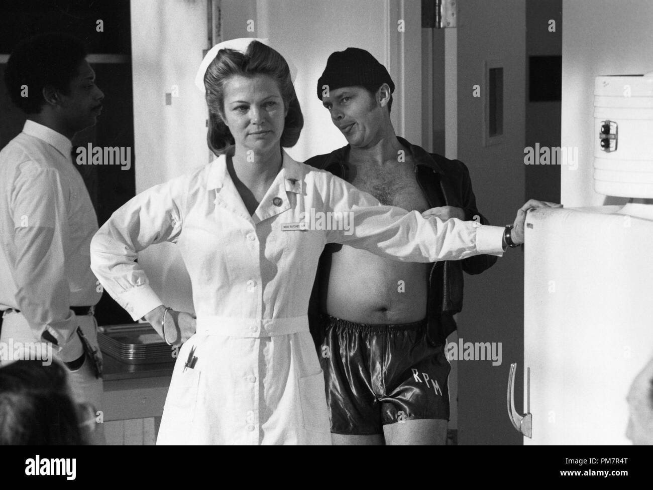 Studio Publicity Still: 'One Flew Over the Cuckoo's Nest'  Louise Fletcher, Jack Nicholson  1975 United Artists      File Reference # 31386_1140THA - Stock Image