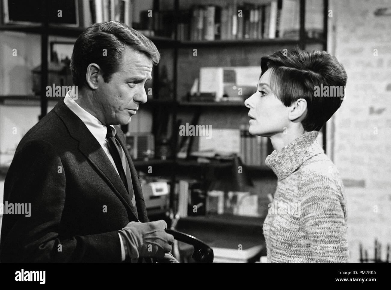 Richard Crenna and Audrey Hepburn, 'Wait Until Dark' 1967 Warner File Reference # 31386_395THA - Stock Image