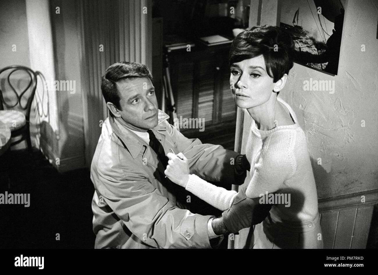 Richard Crenna and Audrey Hepburn, 'Wait Until Dark' 1967 Warner File Reference # 31386_397THA - Stock Image