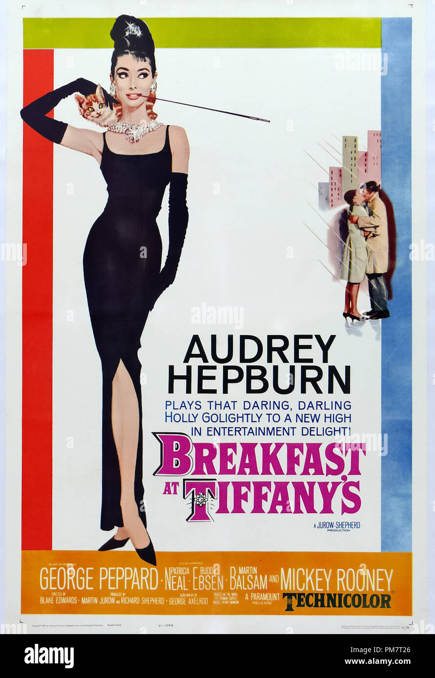 Breakfast at Tiffany's Poster  1961 Paramount  File Reference # 31386_517THA - Stock Image