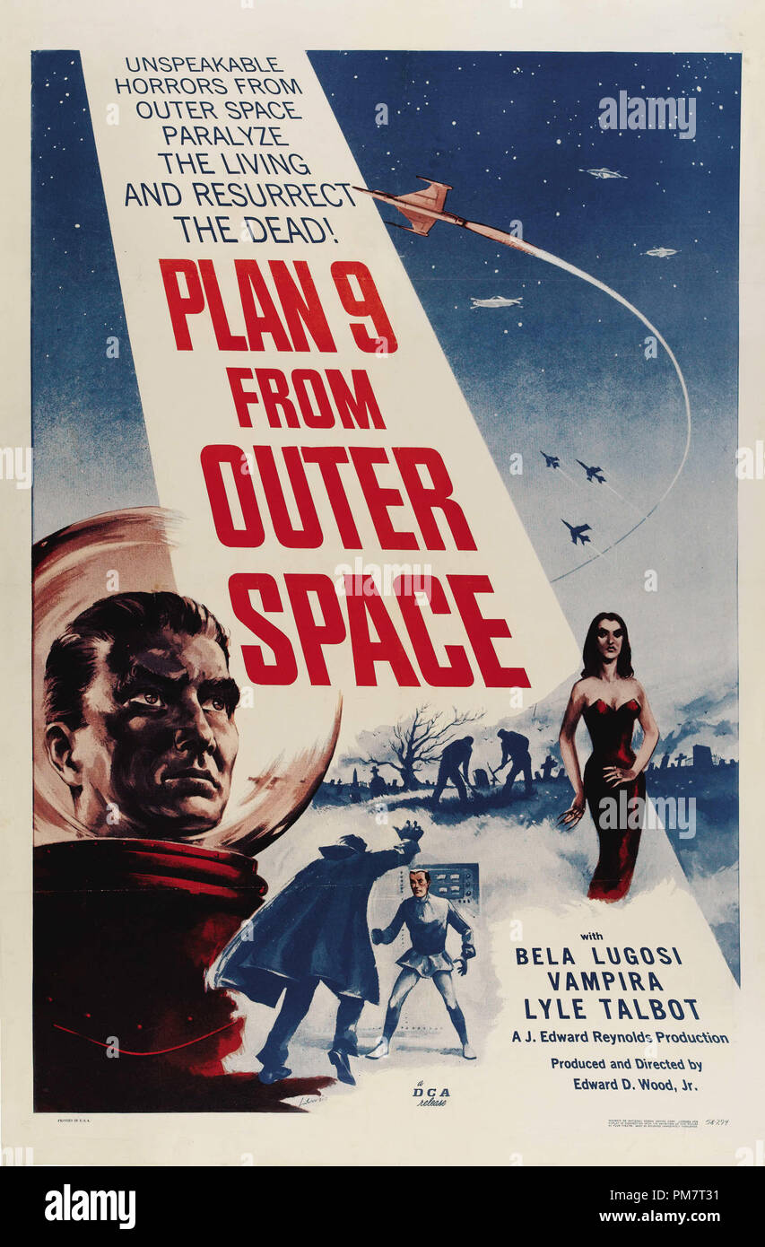 'Plan 9 from Outer Space' Poster  1959  File Reference # 31386_527THA - Stock Image