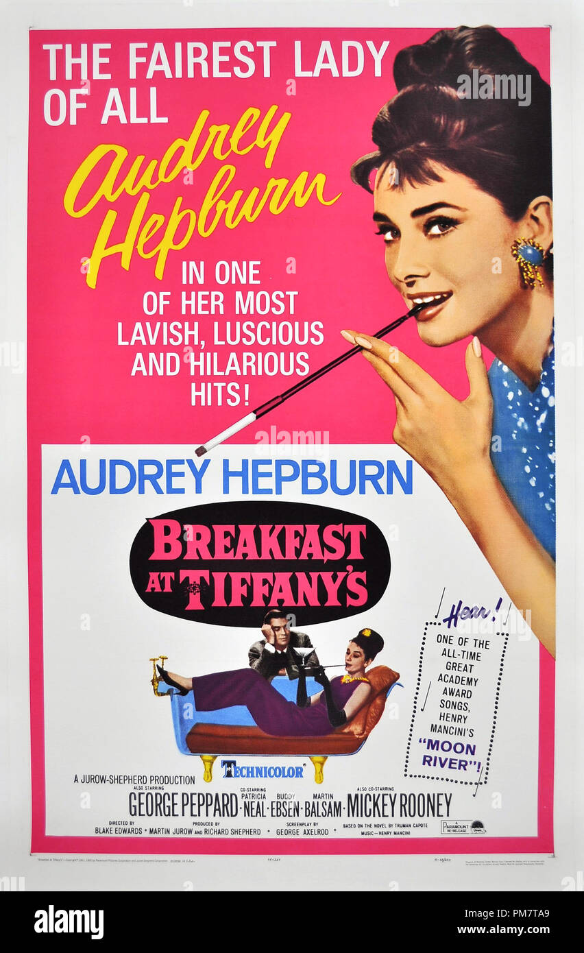 Breakfast at Tiffany's Poster  1961 Paramount  File Reference # 31386_615THA - Stock Image