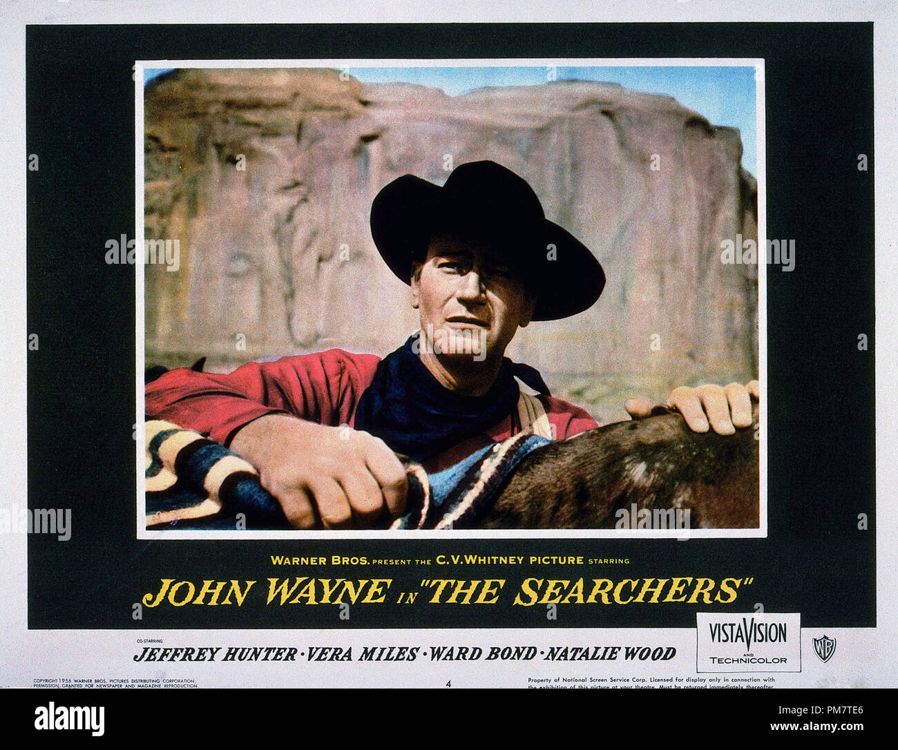 'The Searchers' 1956 Warner Lobby Card  File Reference # 31386_663THA - Stock Image