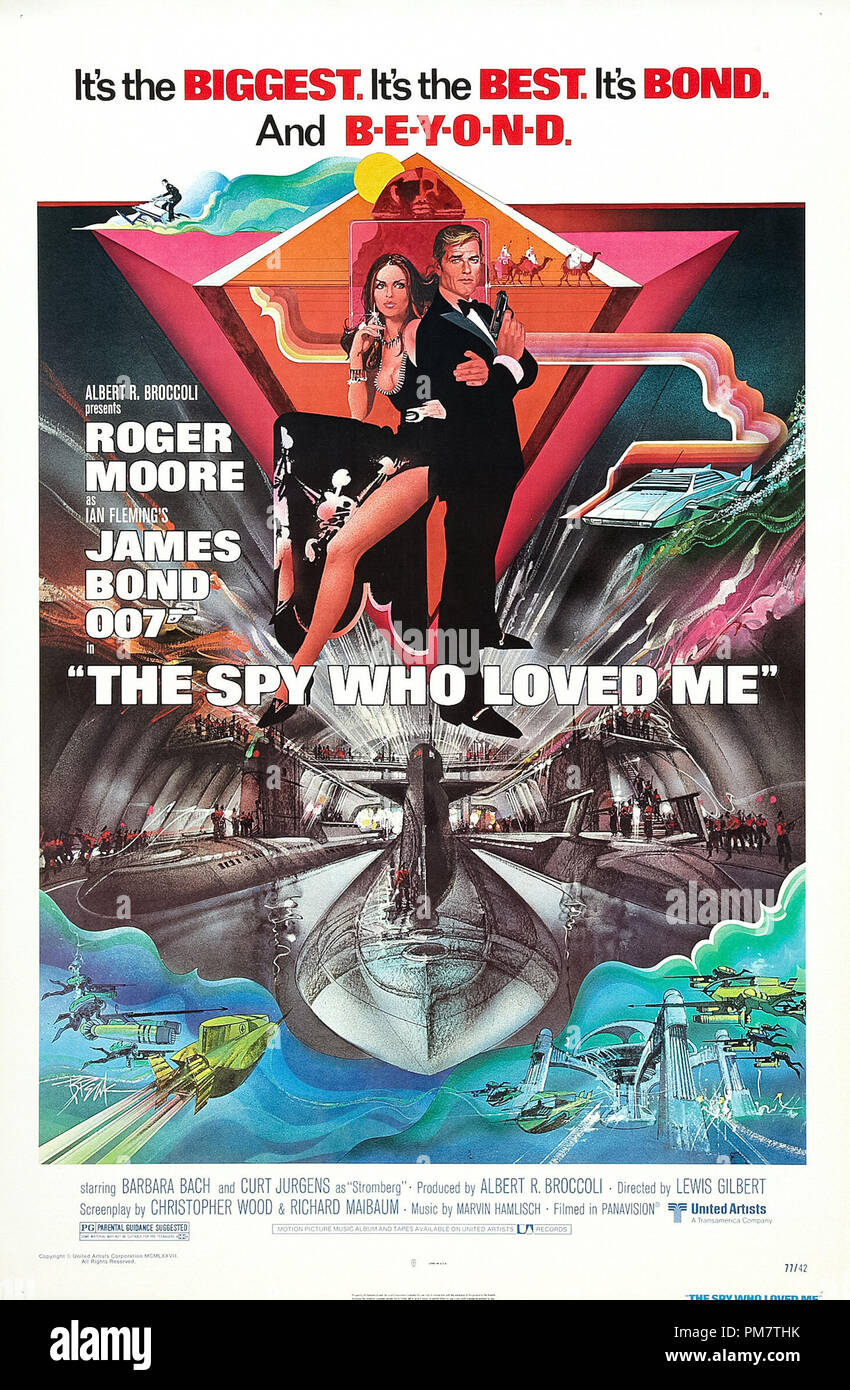 'The Spy Who Loved Me' 1977  Poster   File Reference # 31386_703THA - Stock Image
