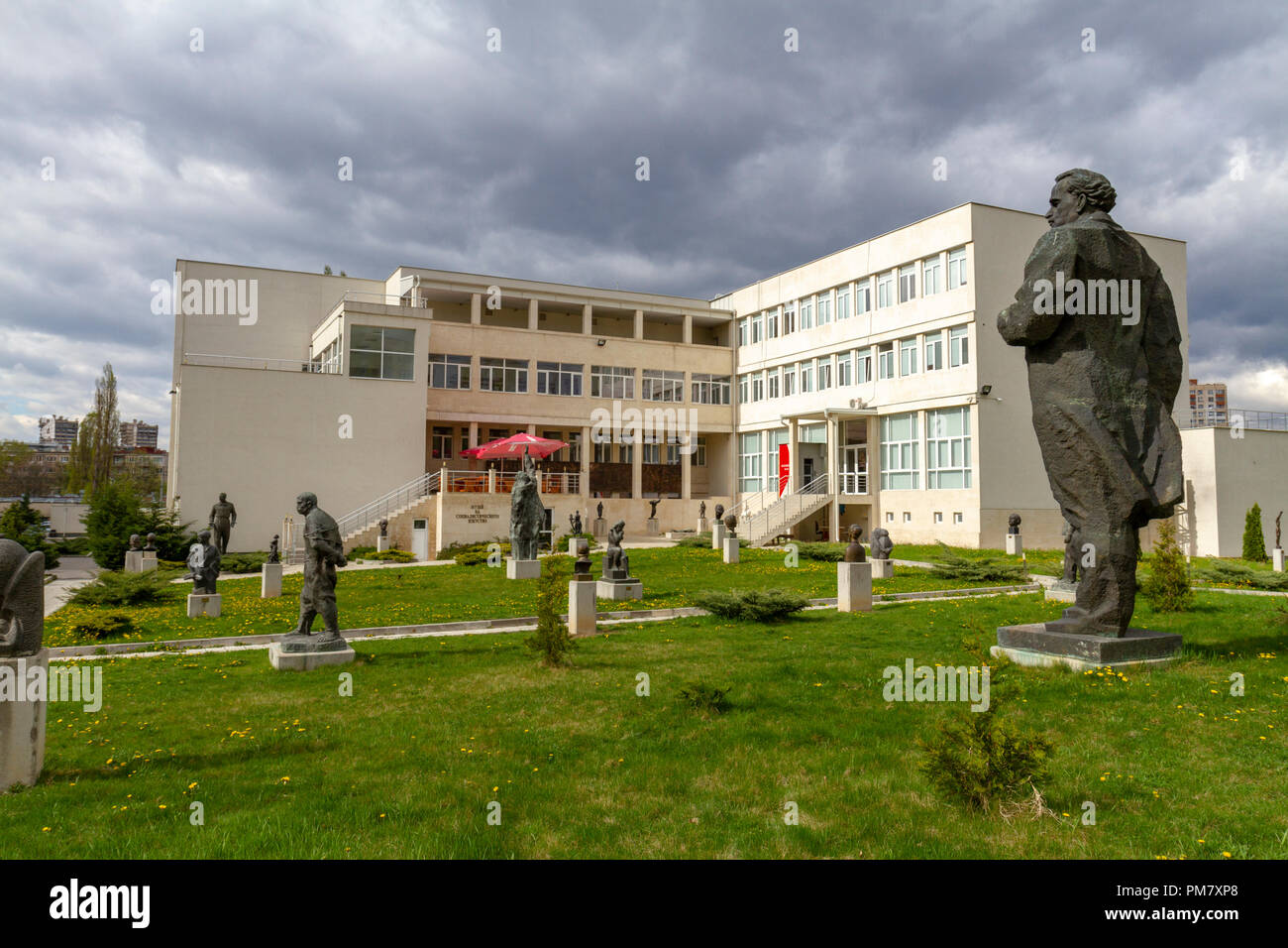 General view of the Museum of Socialist Art outdoor sculpture garden display, Sofia, Bulgaria. - Stock Image