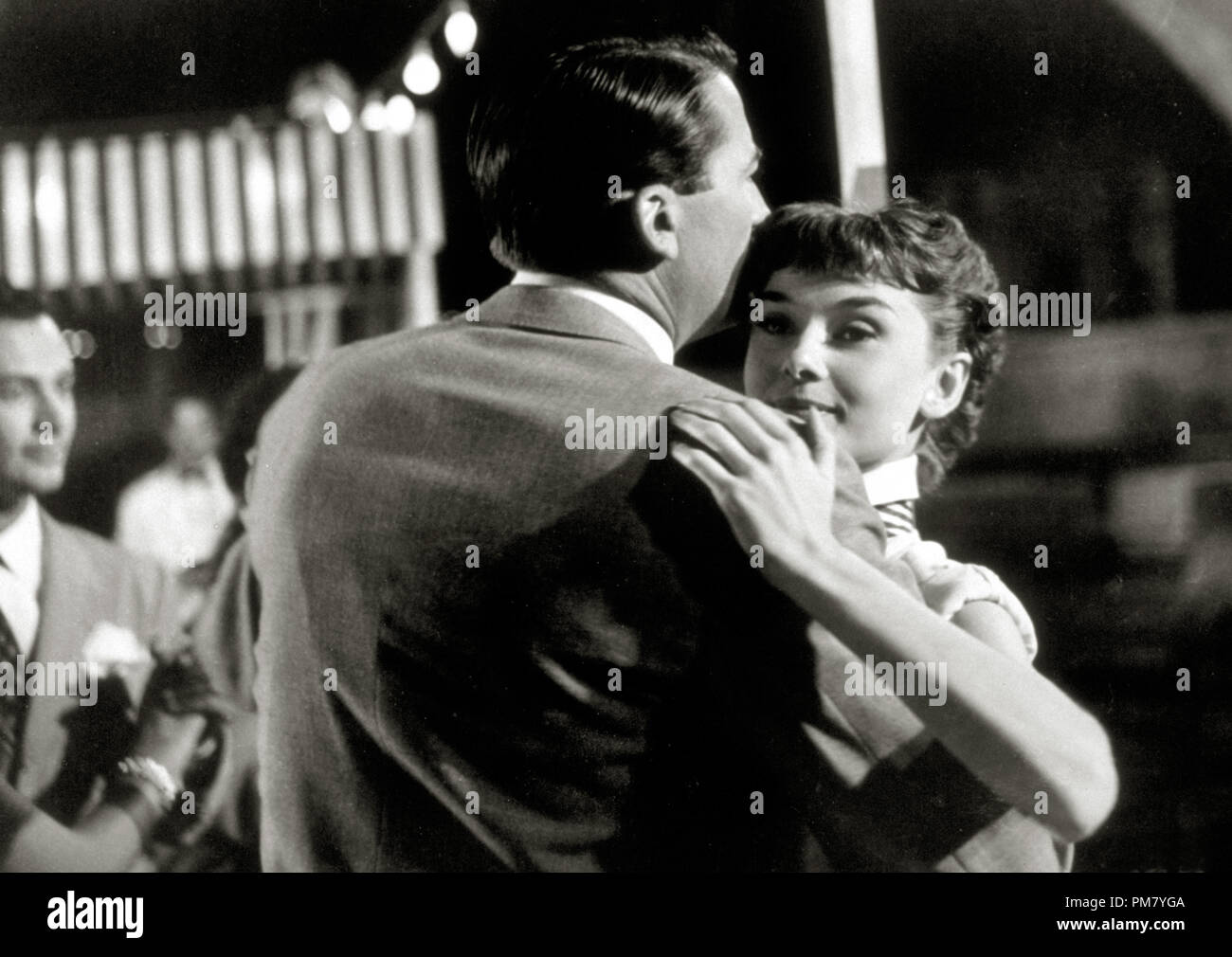 (Archival Classic Cinema - Audrey Hepburn Retrospective) Audrey Hepburn and Gregory Peck,'Roman Holiday' 1953 Paramount File Reference # 31569_003THA - Stock Image