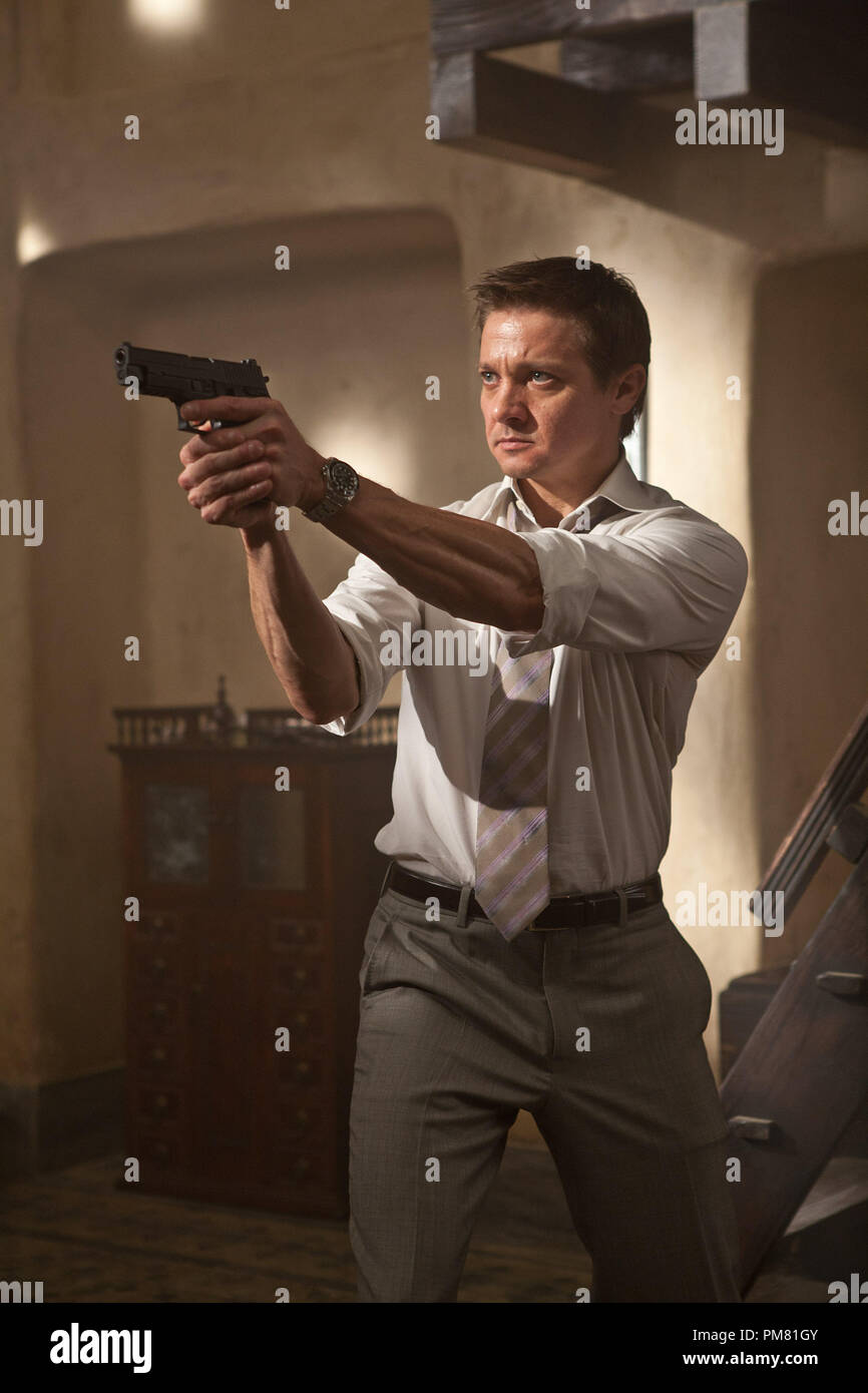 Jeremy Renner plays Brandt in MISSION: IMPOSSIBLE – GHOST PROTOCOL, from Paramount Pictures and Skydance Productions. - Stock Image