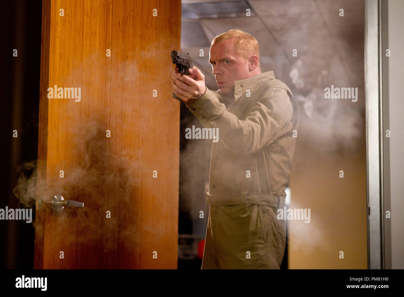 Simon Pegg plays Benji in MISSION: IMPOSSIBLE – GHOST PROTOCOL, from Paramount Pictures and Skydance Productions. - Stock Image