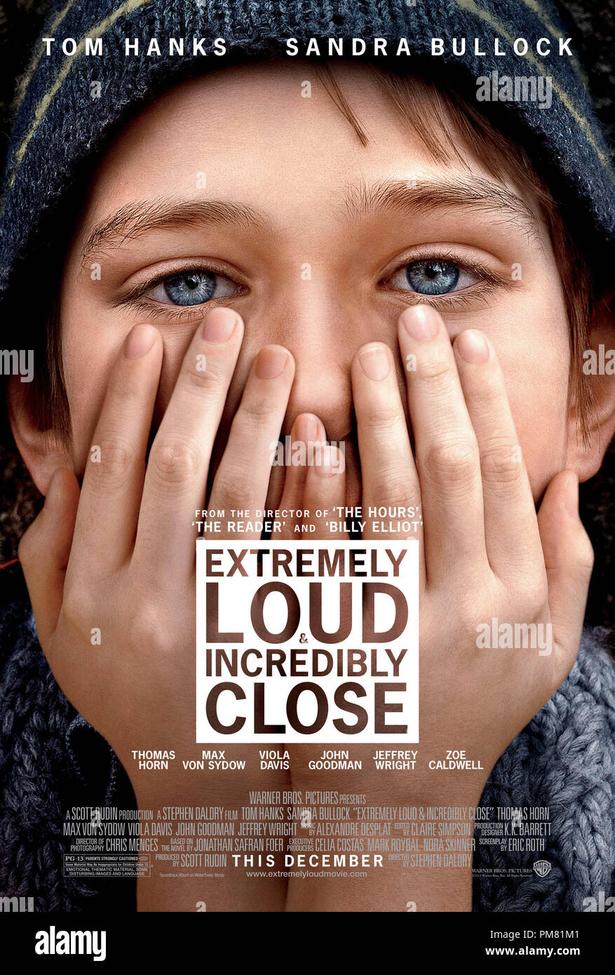 'EXTREMELY LOUD & INCREDIBLY CLOSE' Poster - Stock Image