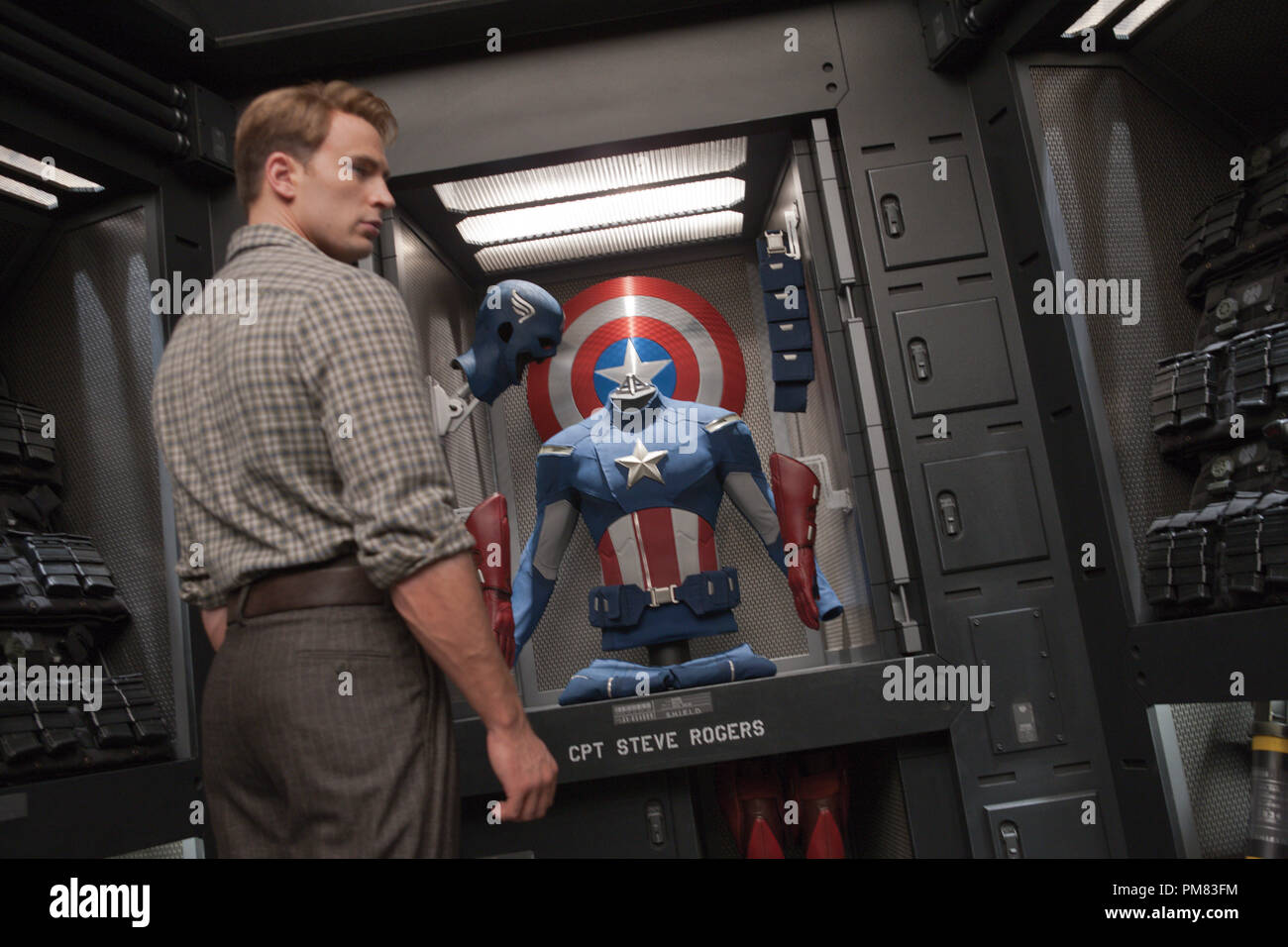 """Marvel's The Avengers"" CAPTAIN AMERICA (Chris Evans) Stock Photo"