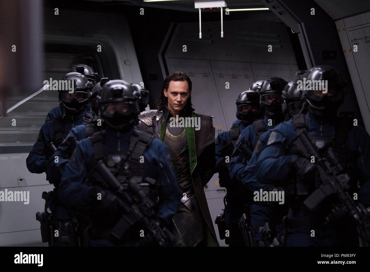 Marvel's The Avengers LOKI (Tom Hiddleston) Stock Photo