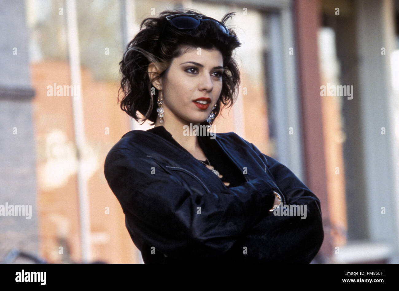 Film still or Publicity still from 'My Cousin Vinny' Marisa Tomei © 1992 20th Century Fox Photo Credit: Ben Glass All Rights Reserved   File Reference # 31487_163THA  For Editorial Use Only - Stock Image