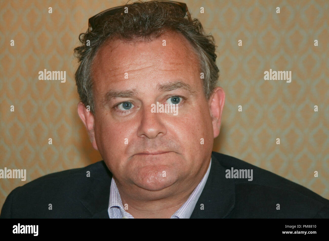 Hugh Bonneville   'Downton Abbey'  Portrait Session, July 22, 2012.  Reproduction by American tabloids is absolutely forbidden. File Reference # 31610_051JRC  For Editorial Use Only -  All Rights Reserved - Stock Image