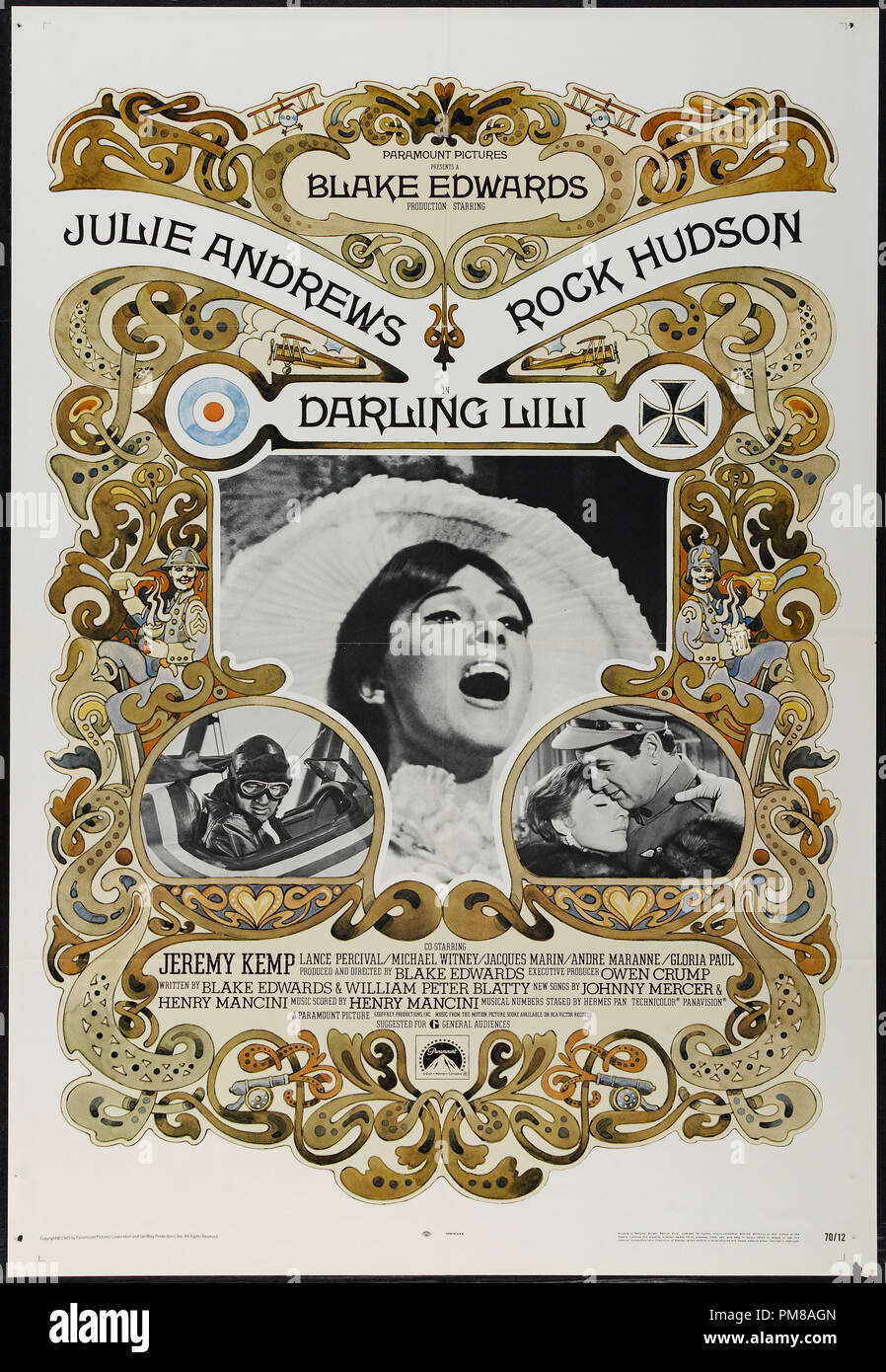 Studio Publicity: 'Darling Lili' 1970 Paramount Poster  Julie Andrews, Rock Hudson   File Reference # 31780_752 - Stock Image