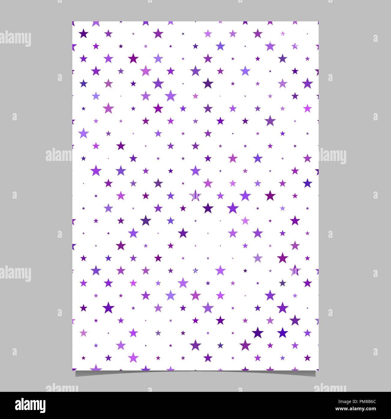 purple pentagram star shape pattern background brochure template