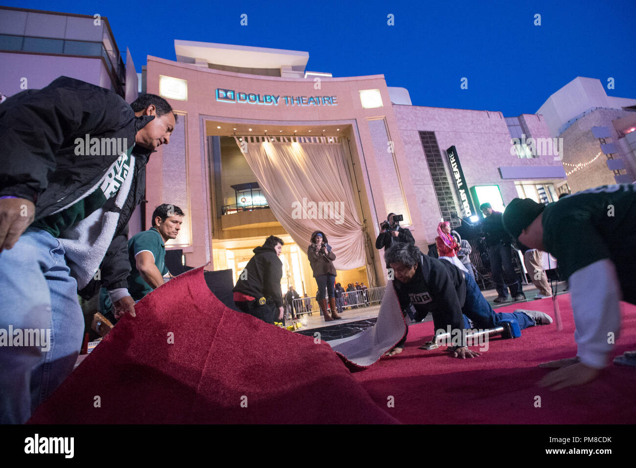 Preparations continue Wednesday, February 20, for the The Oscars which will be presented on Sunday, February 24, 2013, at the Dolby® Theatre and televised live by the ABC Television Network. Stock Photo