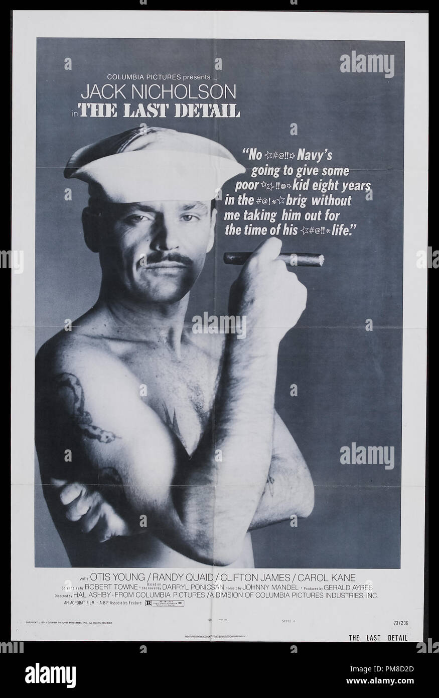 Jack Nicholson, 'The Last Detail' 1973 Columbia Pictures    File Reference # 31955_226THA - Stock Image