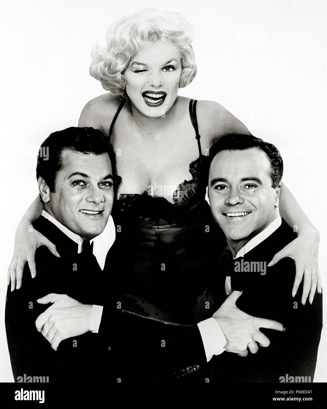 Marilyn Monroe Door Poster with Tony Curtis